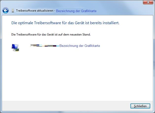 Monitor Grafikkarte Treiber-Suche Suchergebnis