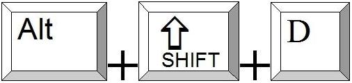Alt und Shift und d