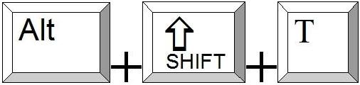 Alt und Shift und t