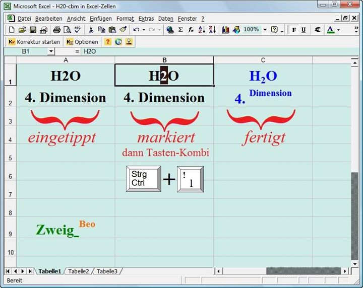 Excel Hoch-Tief-Beispiele Zusammenschau