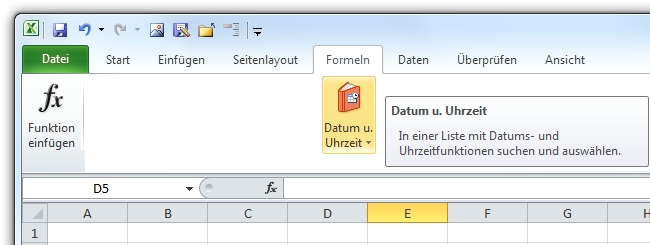 Excel Register Formeln Datum Uhrzeit