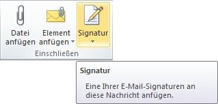 Outlook Signatur-Button mouseover