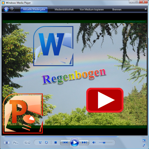Demo-Video WordArt bunter Schrift-Hintergrund