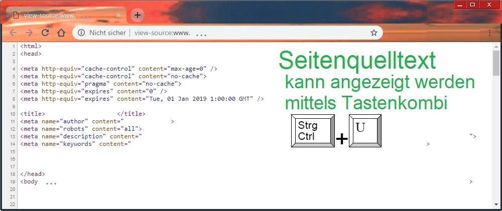 Seitenquelltext-Beispiel no cache