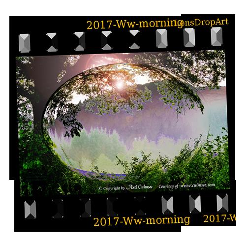 slide LensDropArt Westerwald rising sun