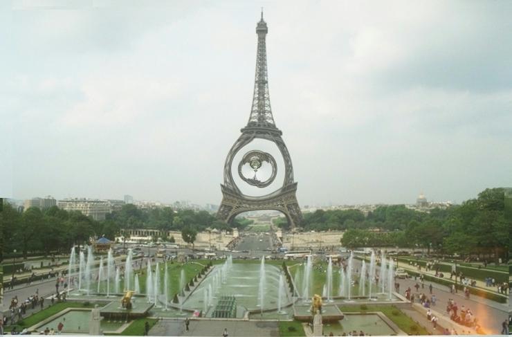 Eiffelturm Polarinvertierung 1