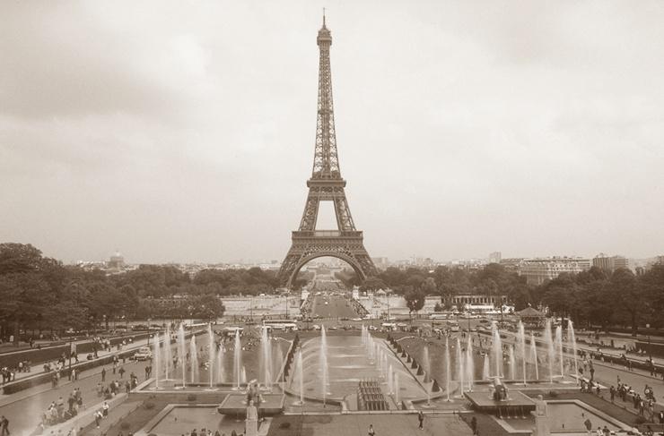Eiffelturm Sepia