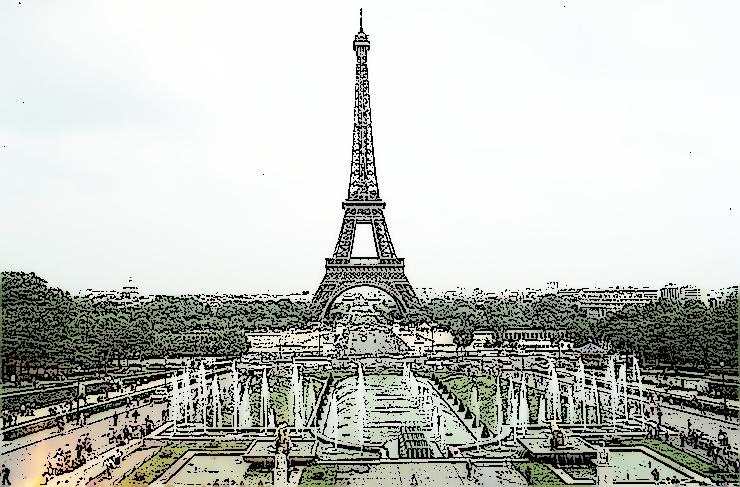 Eiffelturm Skizze