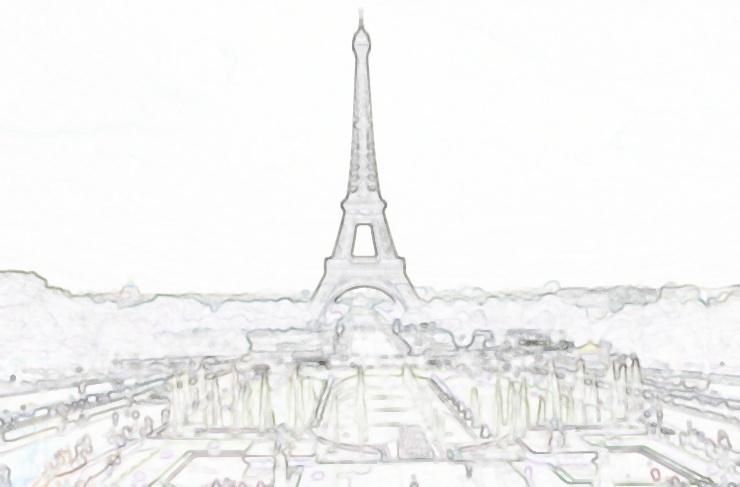 Eiffelturm Umriss