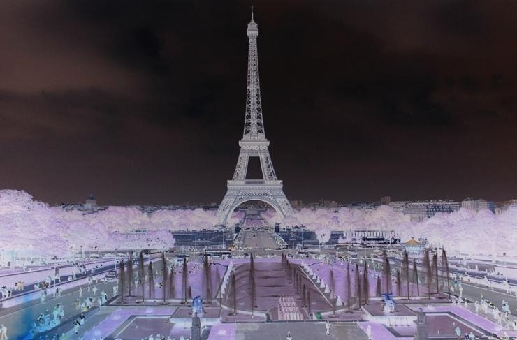 Eiffelturm negativ