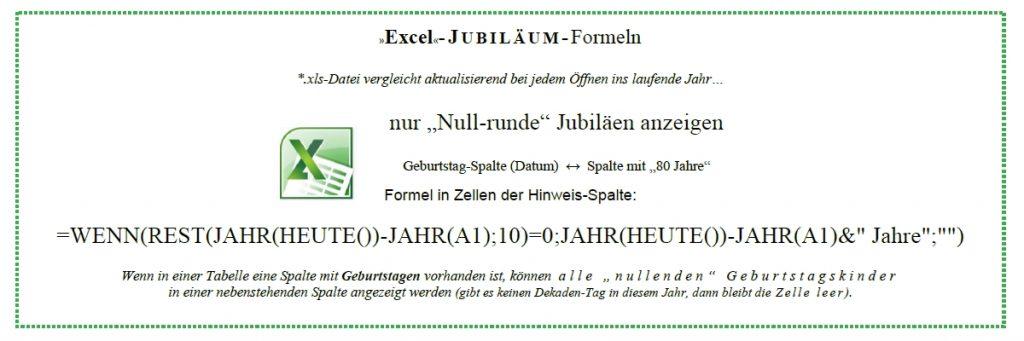 Excel-Jubilaeum-Formel