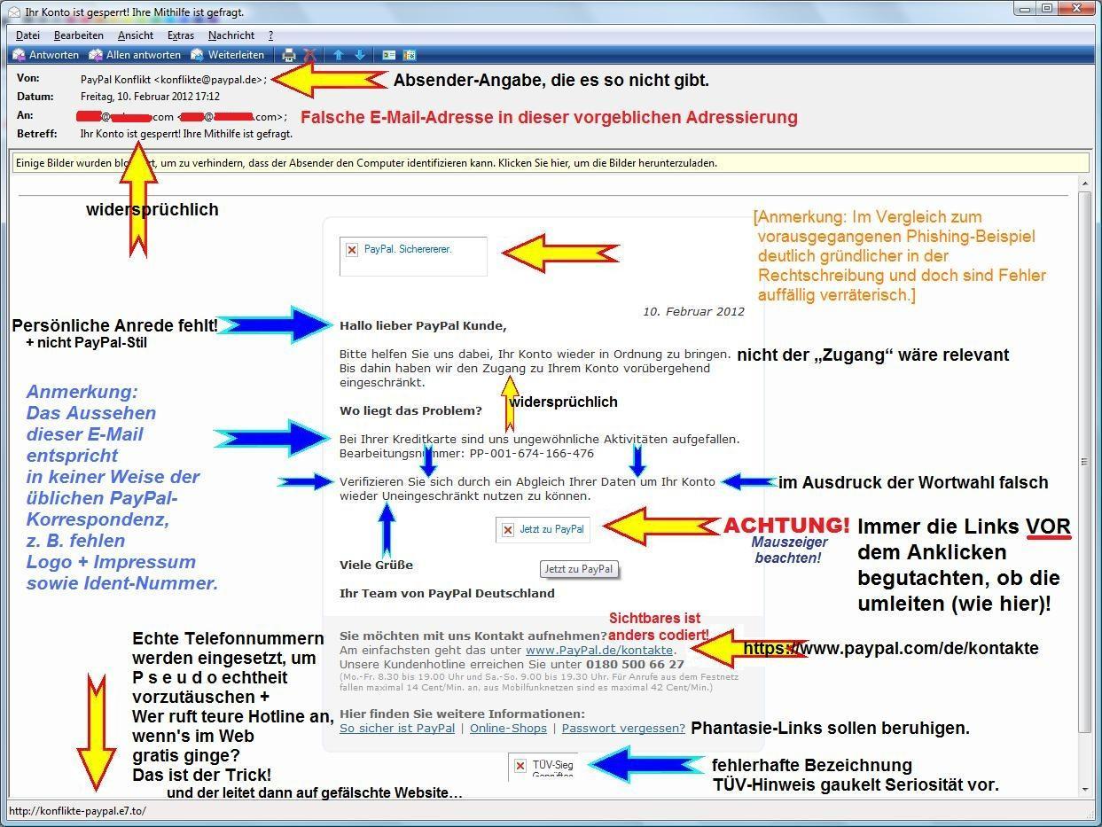 Phishing-Beispiel 2