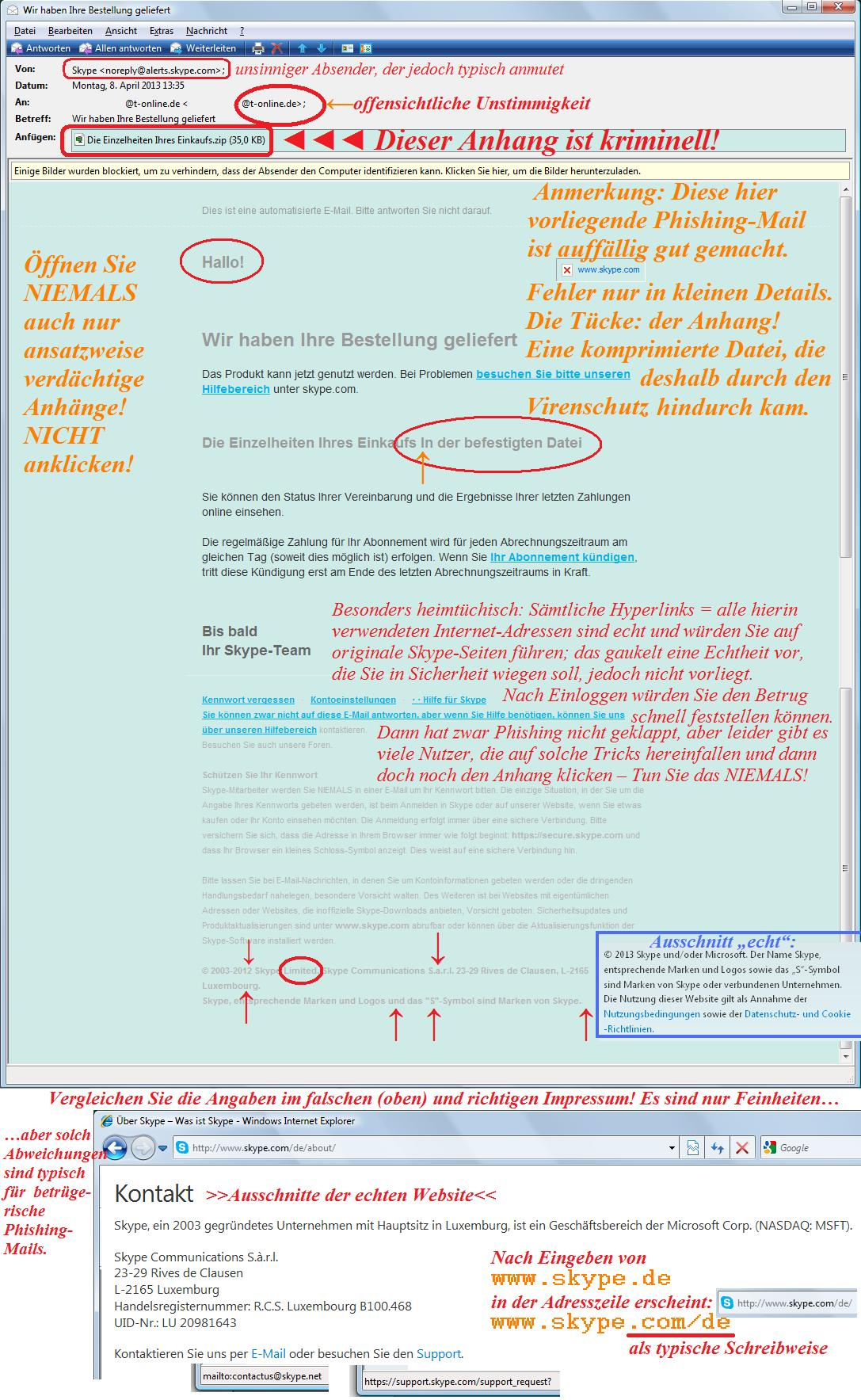 Phishing-Beispiel 3
