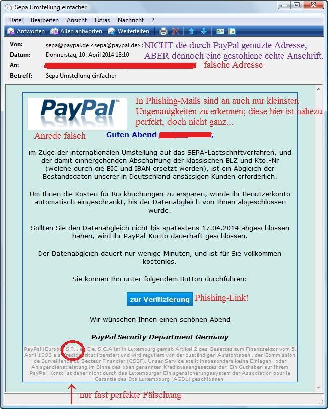 Phishing-Beispiel 9