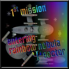 Cetaceanian 1st mission rainbow nebula