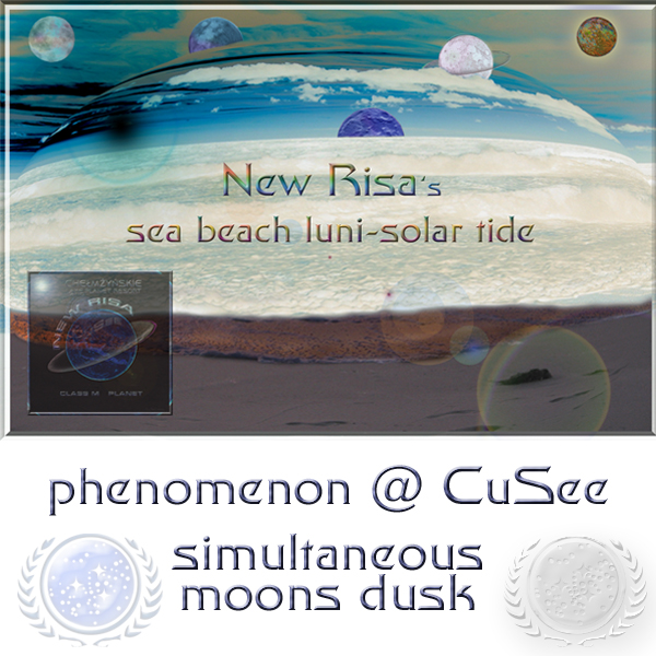moons dusk at CuSee planet New Risa beach
