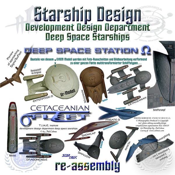 Star Trek starships design re-assembly