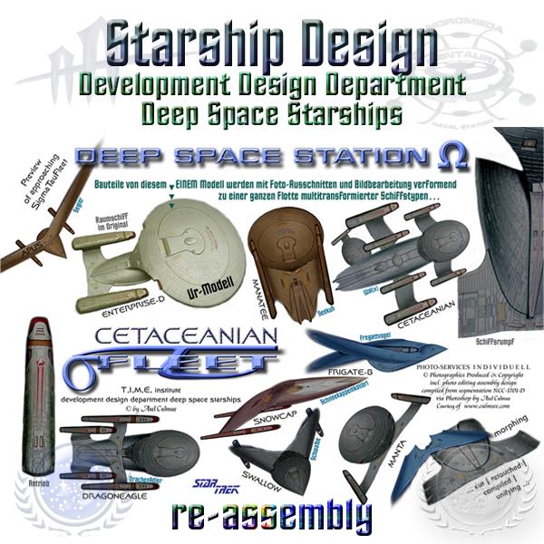 Star Trek starships design re-assembly