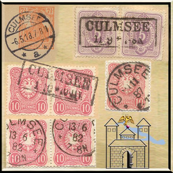Culmsee gestempelte Briefmarken