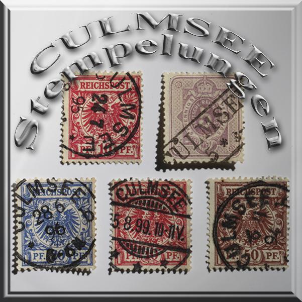 CulmseeStempel auf Briefmarken