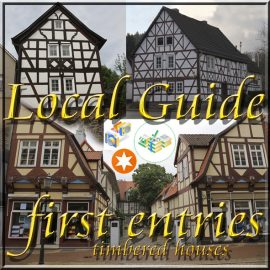 Local Guide first entries timbered houses