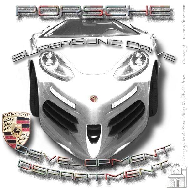 white Porsche SuperSonicDrive