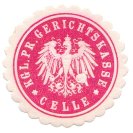 Celle, Siegelmarke Kgl. Pr. Gerichtskasse