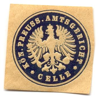 Celle, Siegeldruck Kön. Preuss. Amtsgericht