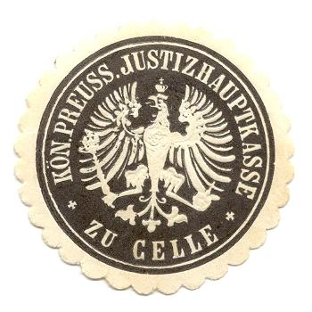 Celle, Siegelmarke Kön. Preuss. Justizhauptkasse