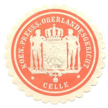 Celle, Siegelmarke Koen. Preuss. Oberlandesgericht