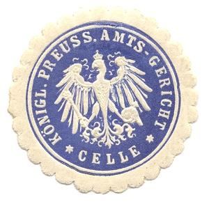 Celle, Siegelmarke Königl. Preuss. Amts-Gericht