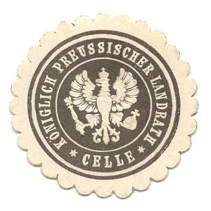 Celle, Siegelmarke Königlich Preussischer Landrath