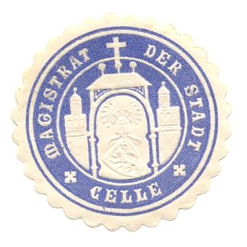 Celle, Siegelmarke Magistrat der Stadt