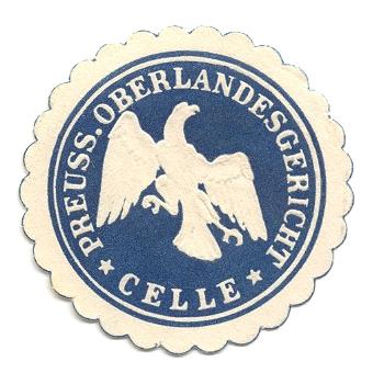 Celle, Siegelmarke Preuss. Oberlandesgericht