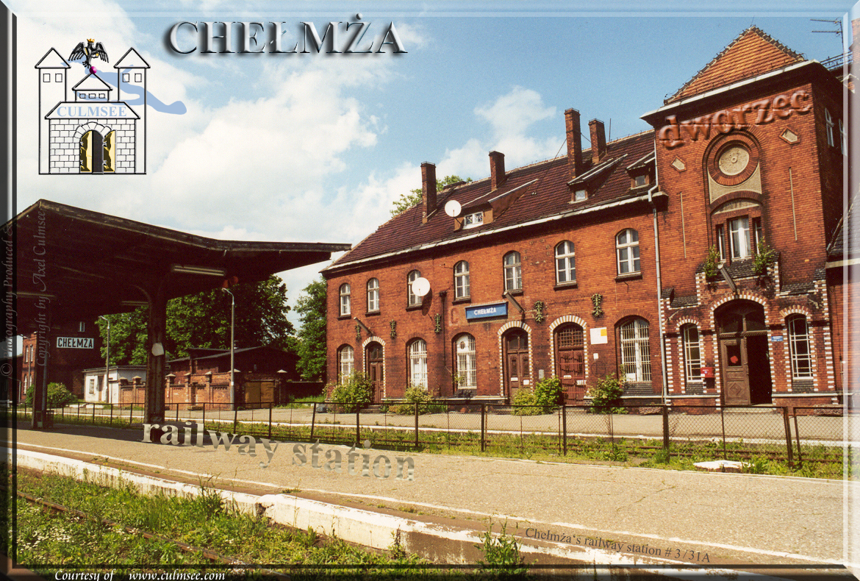 Chelmza dworzec 2001 railway station