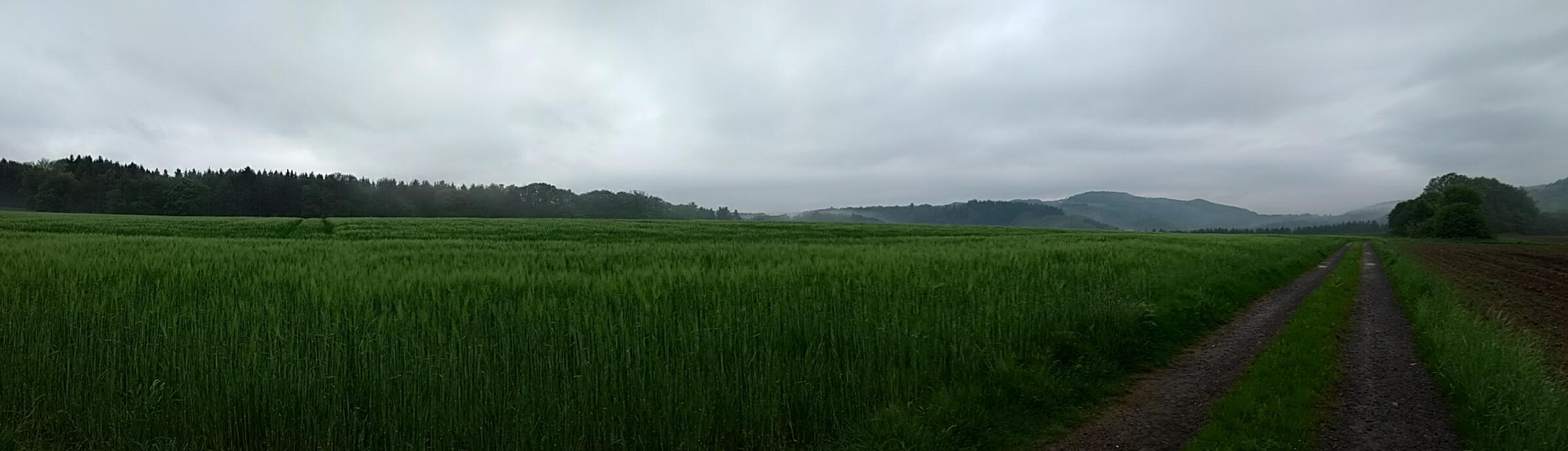 deep dark stormy horizon Westerwald panorama