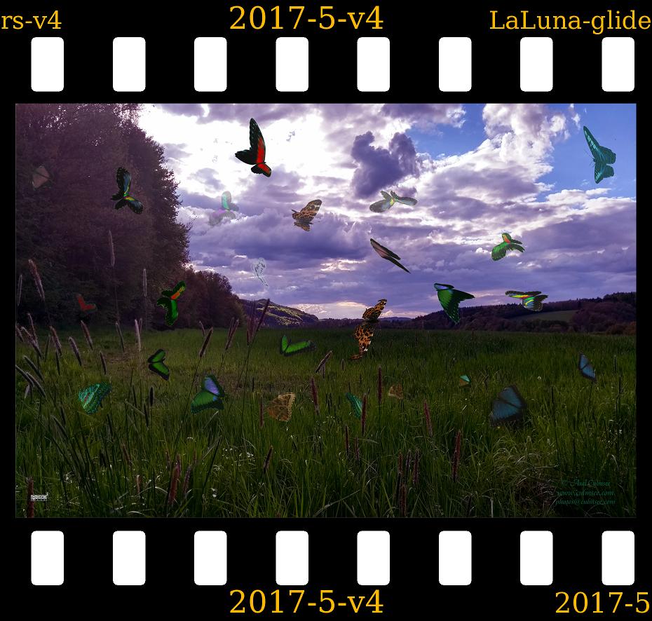 slide LaLuna gliders Westerwald violet sky