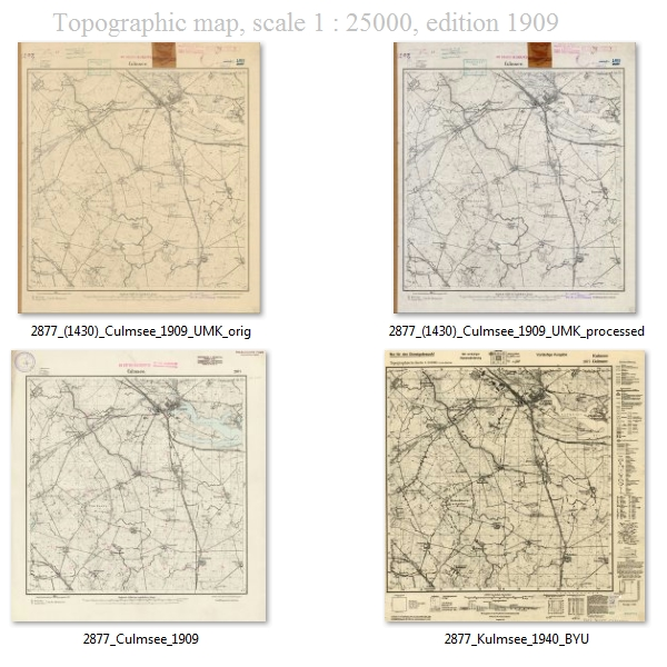 Topographische Karte Culmsee anno 1909