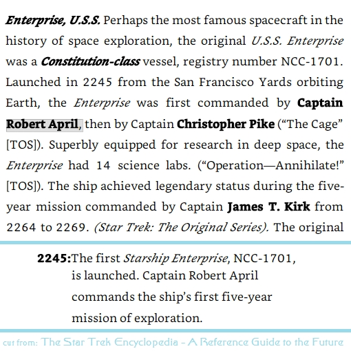 cuts from The Star Trek Encyclopedia A Reference Guide to the Future