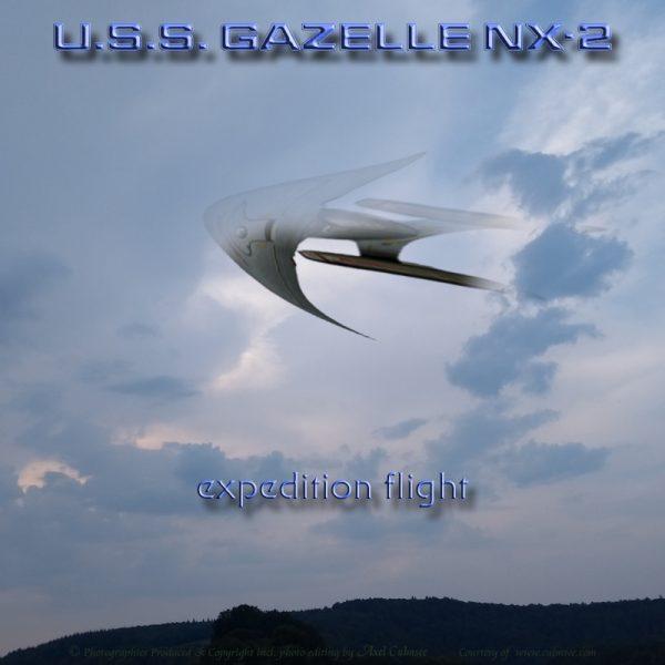 USS GAZELLE NX-2 expedition flight