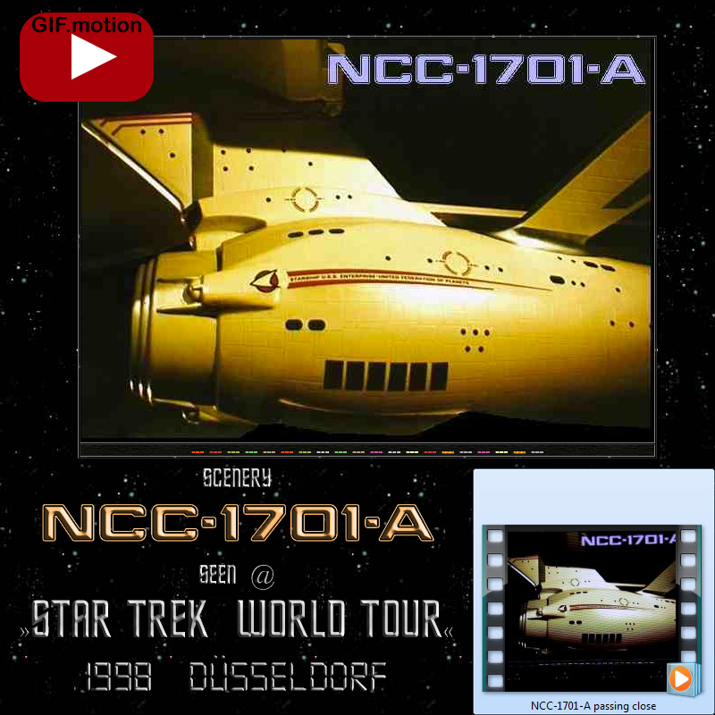 NCC-1701-A sidelong cut seen during Star Trek World Tour Duesseldorf 1998