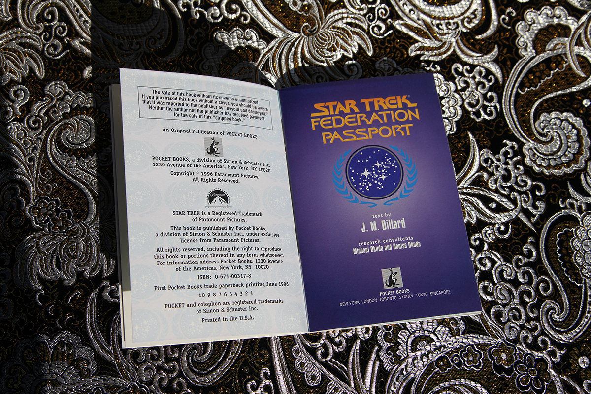 Star Trek Federation Passport - imprint