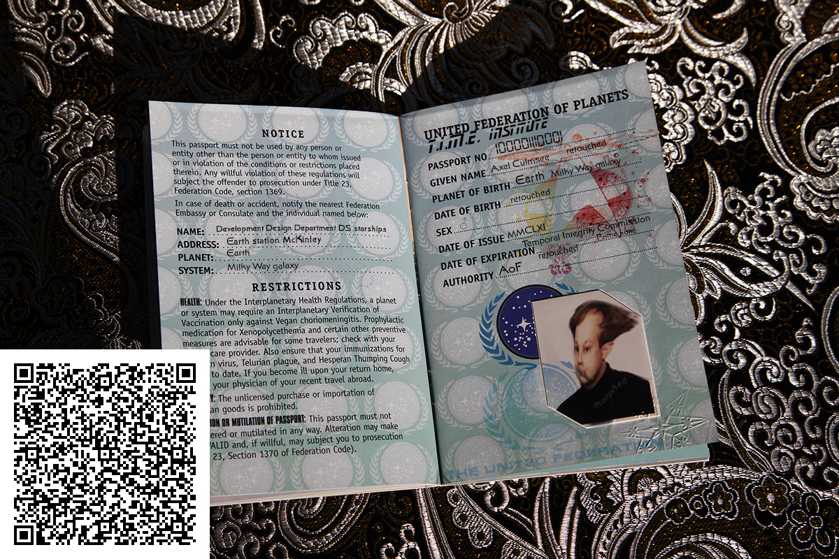 Star Trek Federation Passport - possessor data QR code
