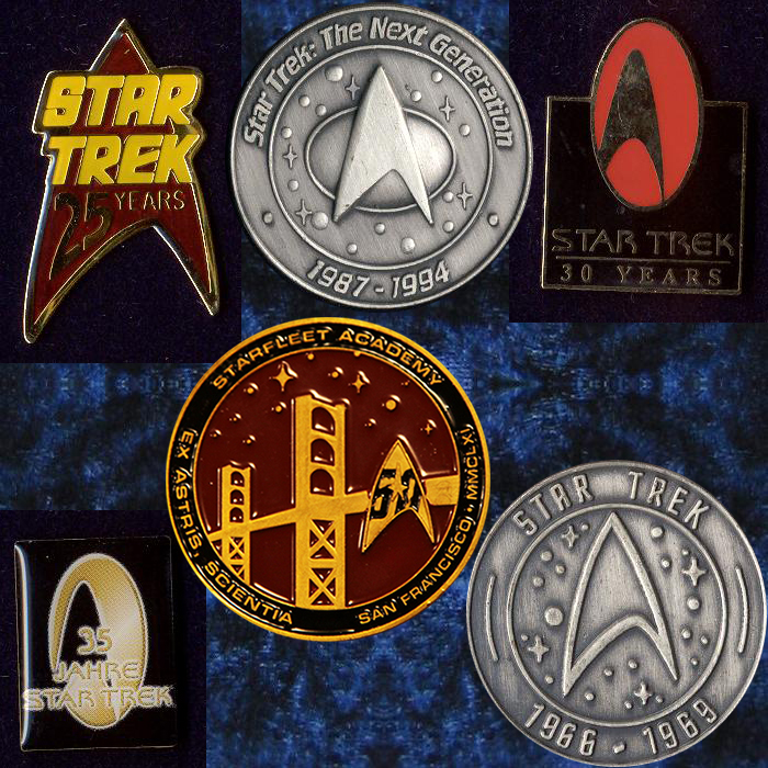 Star Trek TOS jubilee pins