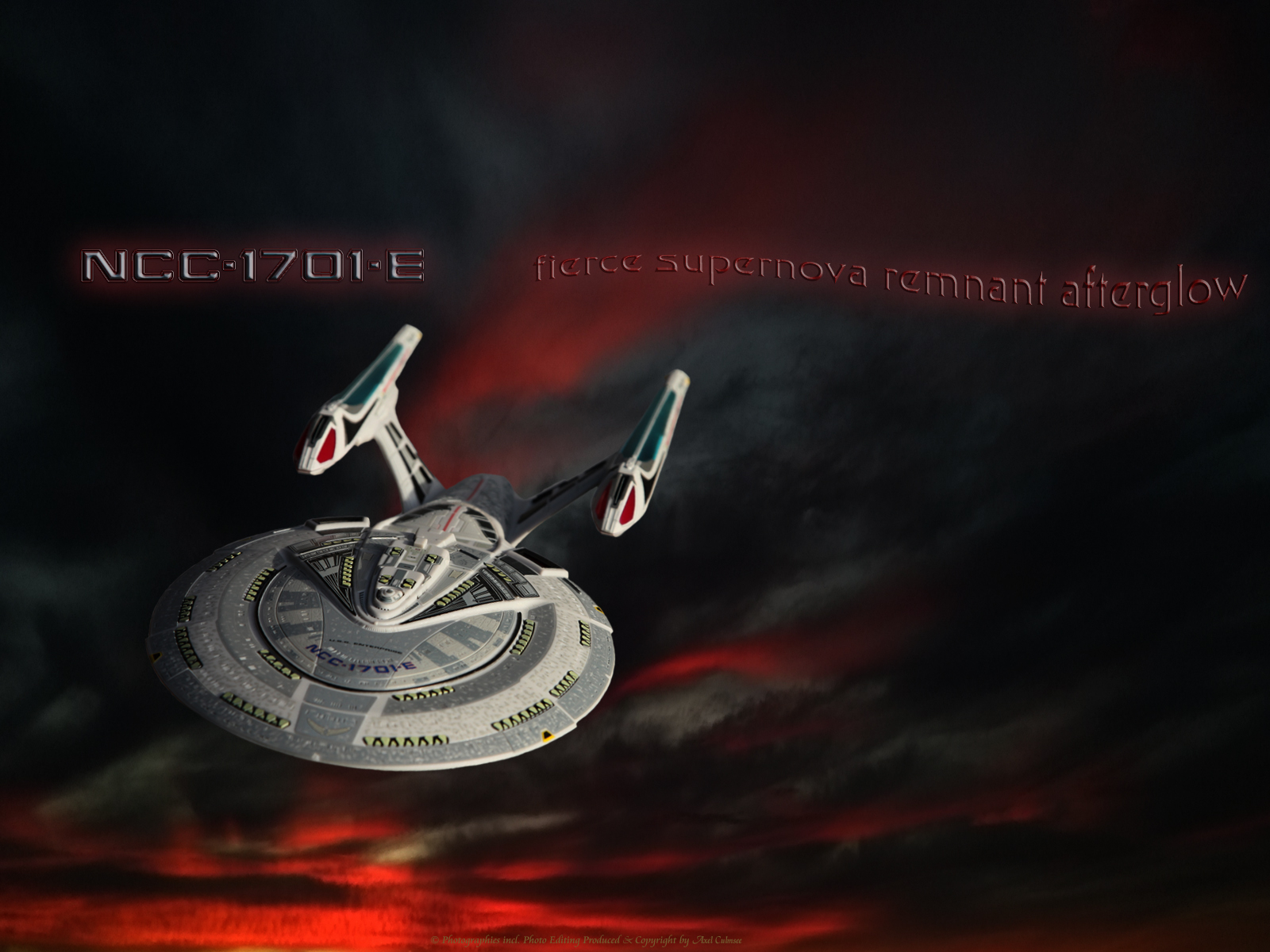 Enterprise-E fierce supernova remnant afterglow