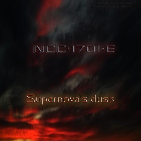 Enterprise-E supernova dusk