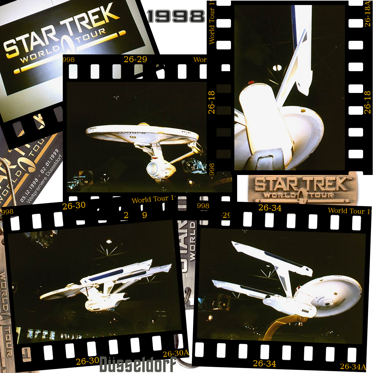 Star Trek World Tour 1998 slides Duesseldorf NCC-1701-A