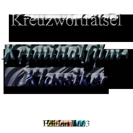 Kriminalfilm-Klassiker Kreuzwortraetsel 03