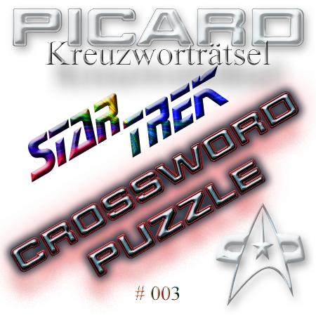 Star Trek Trekkie Kreuzwortraetsel 003 crossword puzzle Picard