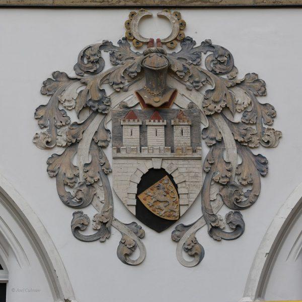 Celle Stadt-Wappen am Bomann-Museum, 2014